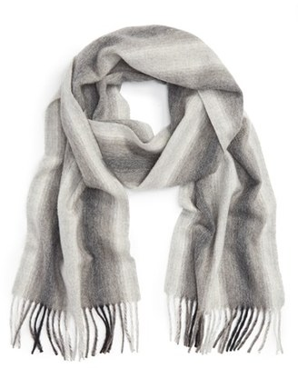 Women's Nordstrom Striped Cashmere Scarf $99 thestylecure.com