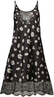 Paco Rabanne floral print lace dress