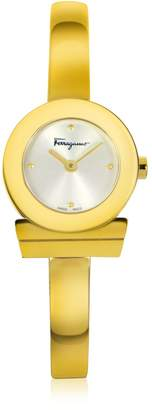 Salvatore Ferragamo Gancino Gold IP Stainless Steel Women's Watch