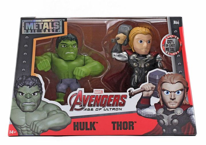 "Avengers Age of Ultron Thor & Hulk Die Cast Metals 4"" Figure Set"
