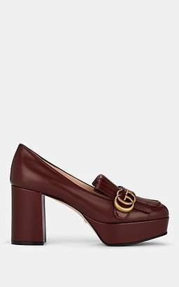 Gucci Women's Marmont Leather Platform Pumps - Wine