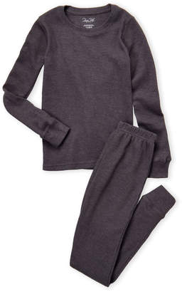 Rene Rofe Girls 7-16) Two-Piece Waffle Thermal Long Underwear Set