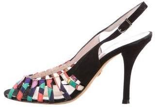 Emilio Pucci Suede Slingback Sandals