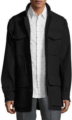 Jil Sander Solid Flap Pocket Field Jacket