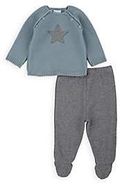 Paz Rodriguez Infants' Star-Appliquéd Sweater & Sweatpants Set-Green