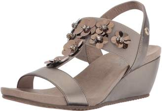 Anne Klein Women's Cassie Synthetic Wedge Sandal