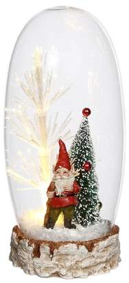 Mark Roberts Lighted Santa & Tree Snowglobe