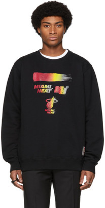 Marcelo Burlon County of Milan Black NBA Edition Miami Heat Sweatshirt