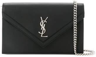 Saint Laurent envelope pointed flap clutch