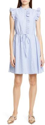 Ted Baker Beyonc Ruffle Trim A-Line Dress