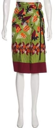 Philosophy di Alberta Ferretti Printed Knee-Length Skirt