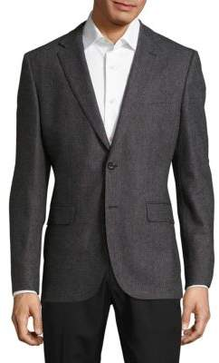 Hugo Boss Regular-Fit Herringbone Jacket