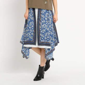 Dessin (デッサン) - Dessin(Ladies) 【洗える】スカーフプリントイレギュラーヘムスカート