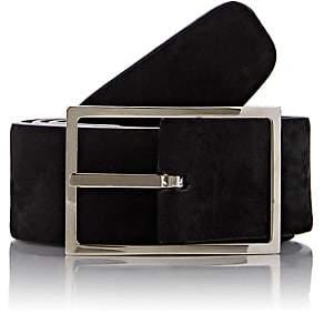 Simonnot Godard Men's Reversible Suede Belt - Black