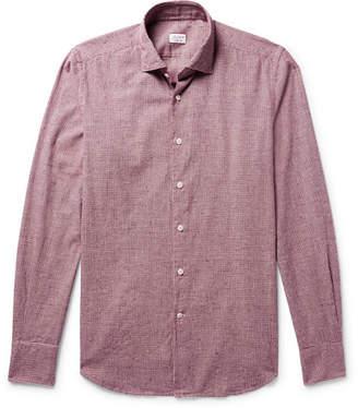 Incotex Slim-Fit Micro-Gingham Slub Cotton-Flannel Shirt