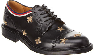 Gucci Borgue Leather Wingtip Oxford Shoe