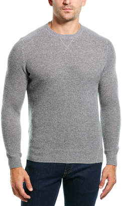 Amicale Cashmere Crewneck Waffle Cashmere Sweater