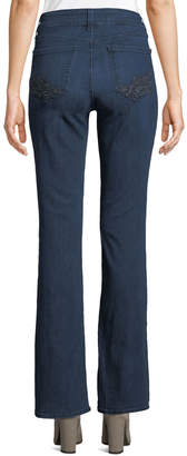 NYDJ Barbara Embroidered-Pocket Boot-Cut Jeans