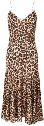 Caroline Constas Kai Leopard Midi Dress