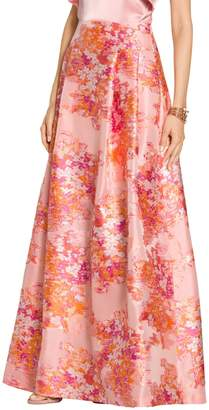 St. John Washed Bouquet Jacquard Gown Skirt