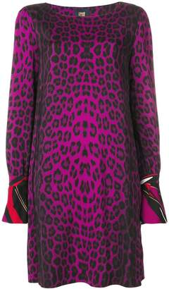 Class Roberto Cavalli animal print shift dress