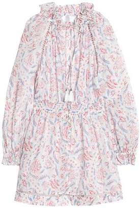 Zimmermann Zephyr Printed Cotton-voile Playsuit
