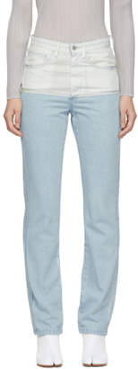 Off-White Kanghyuk Blue and Airbag Jeans