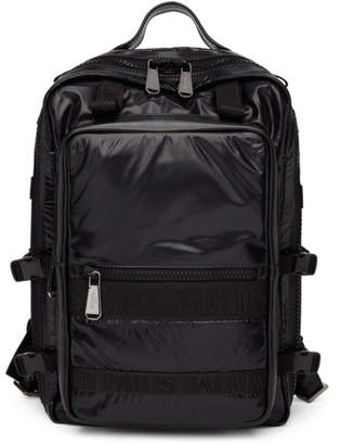 Balmain Black Finn Backpack