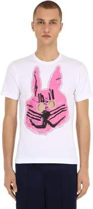 Comme des Garcons Printed Cutout Cotton Jersey T-Shirt