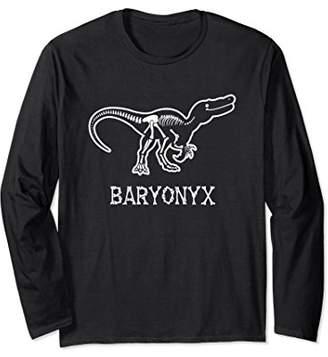 Fossil Baryonyx Bones Long Sleeve Shirt Dinosaur