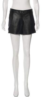 Ramy Brook Silk Leather-Trimmed Shorts