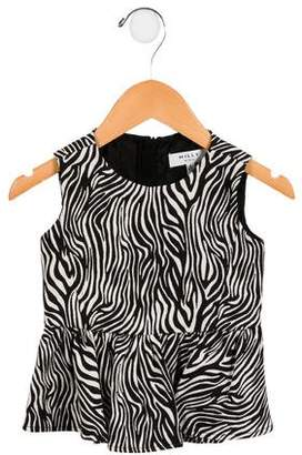 Milly Minis Girls' Zebra Patterned Top w/ Tags