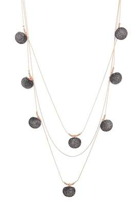 Rebecca Minkoff High Shine Pompom Layered Necklace
