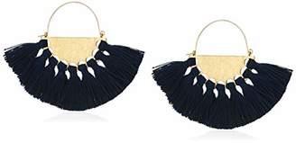 Panacea Women's Silk Tassel Fan Drop Earrings