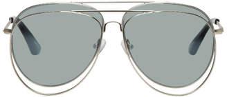 Bless Silver Linda Farrow Edition Double Sunglasses