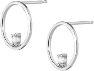 Aurate Floating Diamond Hoop Earrings