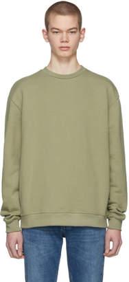 John Elliott Green Oversized Crewneck Sweatshirt