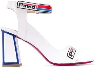 Pinko logo strap sandals