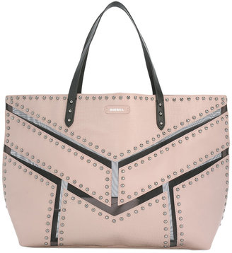 Diesel large studded tote bag $271.69 thestylecure.com