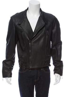 John Galliano Leather Biker Jacket