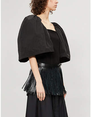 Toga Puffed-shoulder shell and jersey top