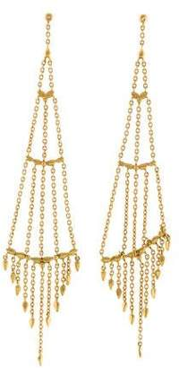 H.Stern 18K Diamond Lizard Fringe Chandelier Earrings
