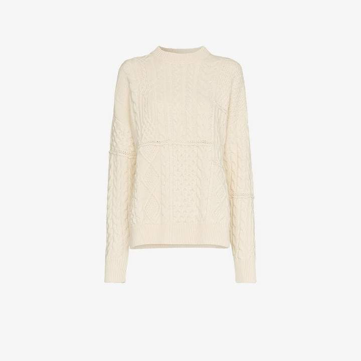 Rochere chunky knit merino wool jumper