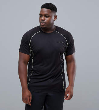 Asos 4505 Plus t-shirt with breathable mesh panels and quick dry in black