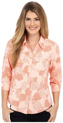 Royal Robbins Expedition Stretch 3/4 Sleeve Print Top Women's Long Sleeve Button Up