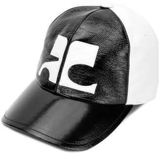 Courreges two-tone logo cap