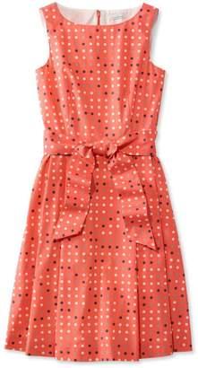 L.L. Bean L.L.Bean Signature Poplin Dress, Reef Coral Dot