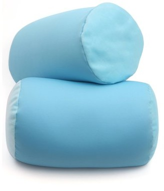 """Deluxe Comfort Mooshi Squish Microbead Bed Pillow (14"""" x 7"""") Airy Squishy Soft Microbeads Eighteen Fun Bubbly Colors to Choose From Cuddly and Fun Dormroom Accessory Bed Pillow, Sky Blue"""