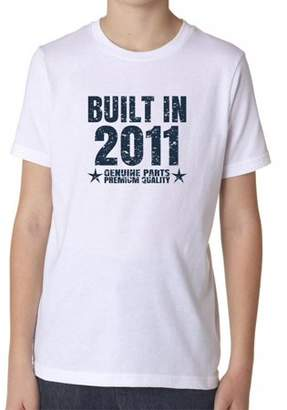 Hollywood Thread Built In 2011 - Perfect Birthday Present Gift - Vintage Boy's Cotton Youth T-Shirt