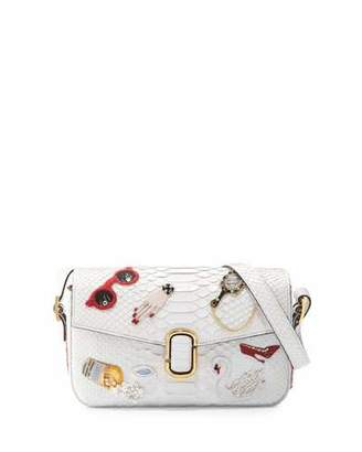 Marc Jacobs J Marc Embroidered Python Shoulder Bag, White $5,500 thestylecure.com